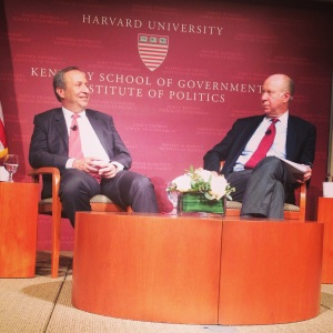 Larry Summers and David Gergen