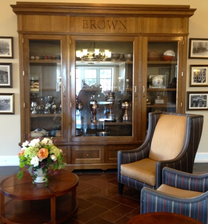 The Brown gym lobby...